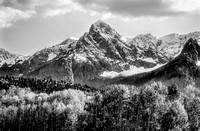 Hayden Peak in the Fall 2 Black and White