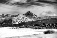 Mt. Sneffels in Winter Black and White